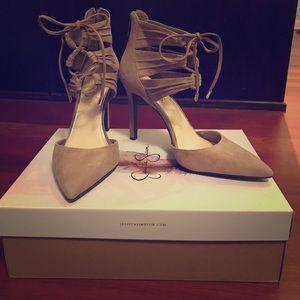 815539156a Women Jessica Simpson Lace Up Heels on Poshmark